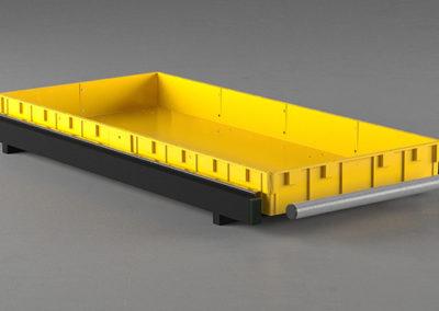 Стеллажный модуль усиленный, низкий борт
