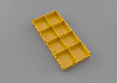 Как получить 8 одинаковых сегментов по 1/8 ящика