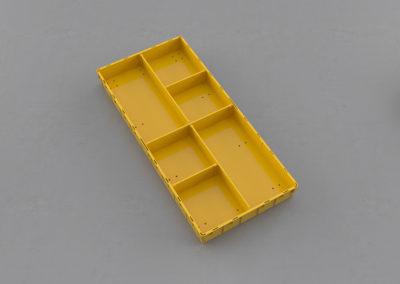 Как получить 2 продольных сегмента по 1/4 и 4 сегмента по 1/8 ящика
