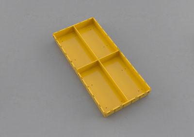 Как получить 4 продольных сегмента по 1/4 ящика