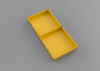Как получить 2 поперечных сегмента по 1/2 ящика