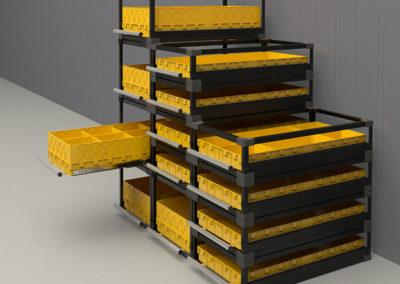Каркасные фронтальные усиленные модули в напольной инсталляции