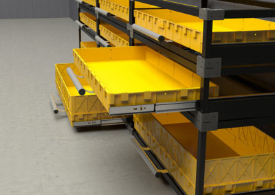 Каркасные боковые усиленные модули в напольной инсталляции