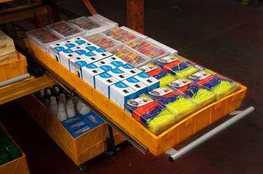 (07) Стеллажный модуль (стандарт) с мелкоштучным товаром. Арт. СМ-НБ.